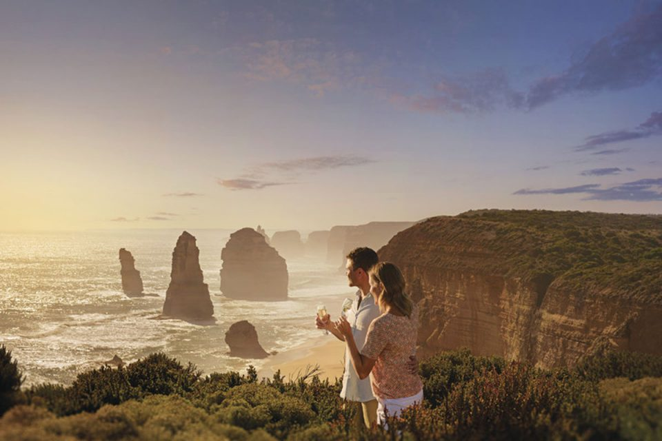 Sunset over the Twelve Apostles
