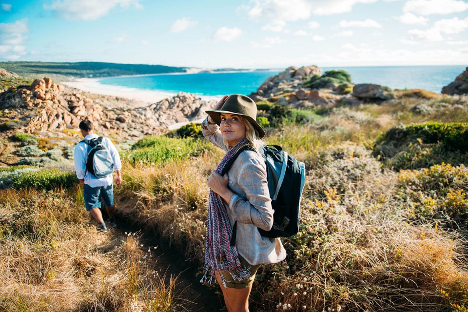 Take in spectacular views of Western Australian coastline and Injidup Beach with Great Walks of Australia.