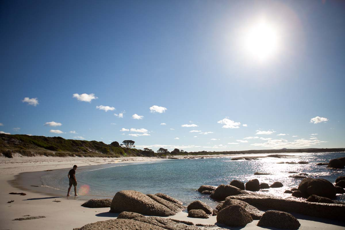 Enjoy secluded beaches along the Bay of Fires Coastline.