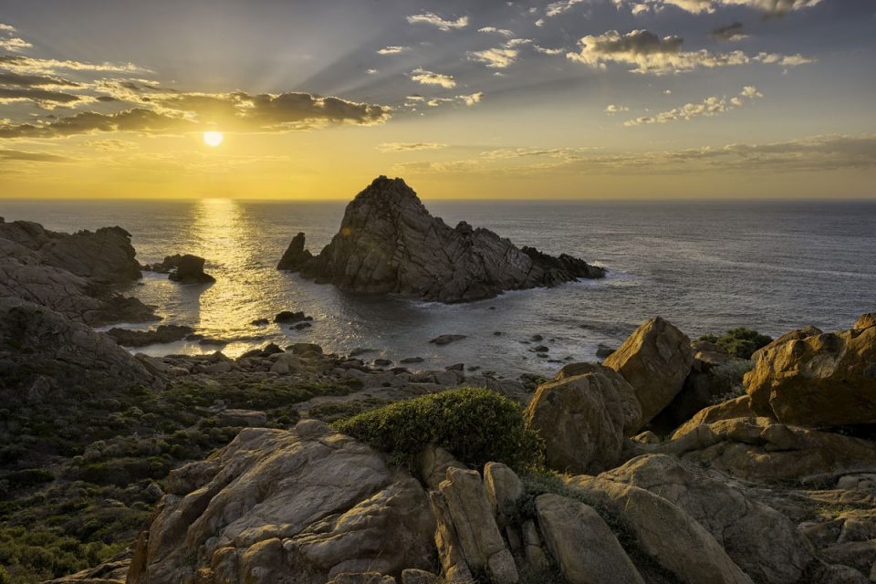 Sunset over Sugarloaf Rock