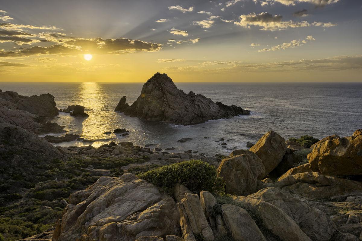 Sunset over Sugarloaf Rock