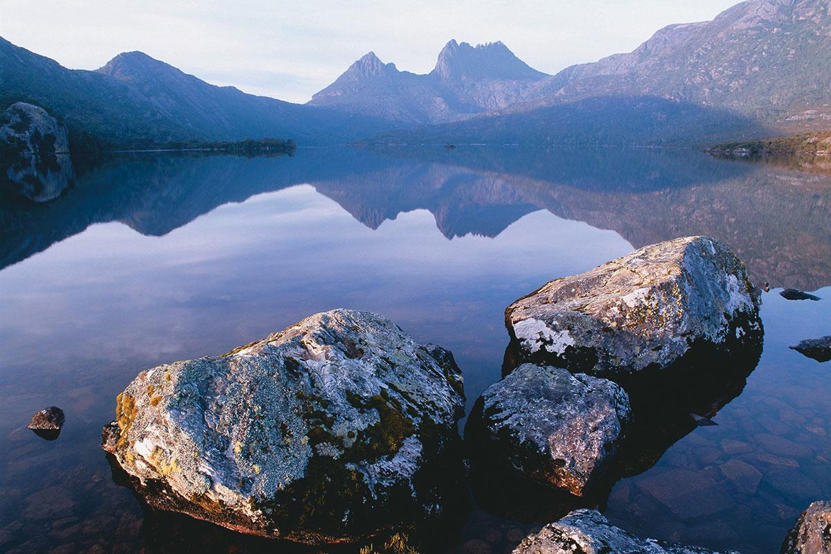 Take in beautiful views of Lake St Clair in Tasmania on the Cradle Mountain Huts Walk.