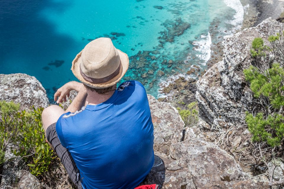 Hike to the clifftops for the best views overlooking the ocean on Lord Howe Island, New South Wales.