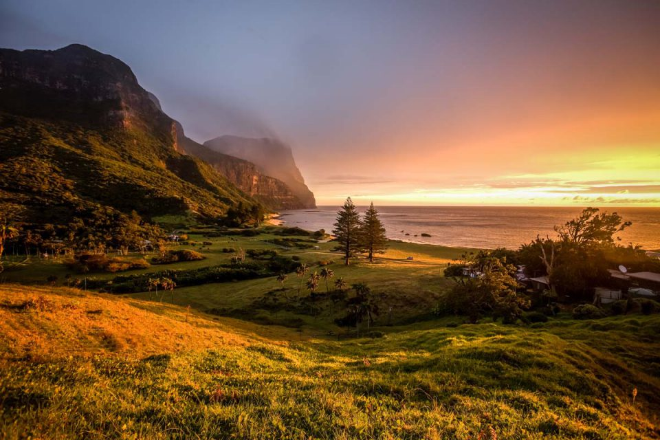 Experience stunning sunsets on Lord Howe Island during the Seven Peaks Walk with Great Walks of Australia.