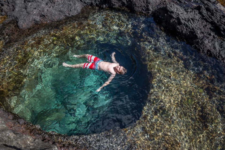 Swim in rock pools around Lord Howe Island in New South Wales with Great Walks of Australia.