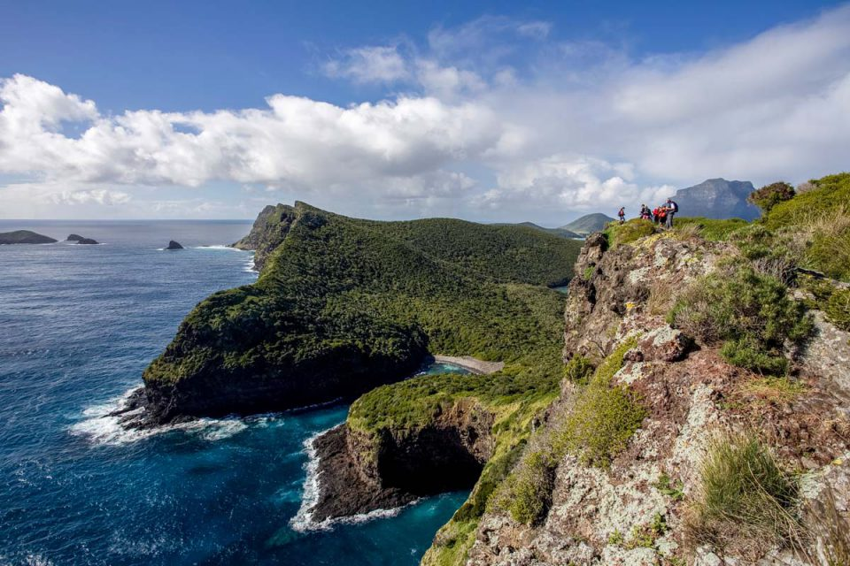Hike along the ridgeline on the Seven Peaks Walk on Lord Howe Island with Great Walks of Australia.