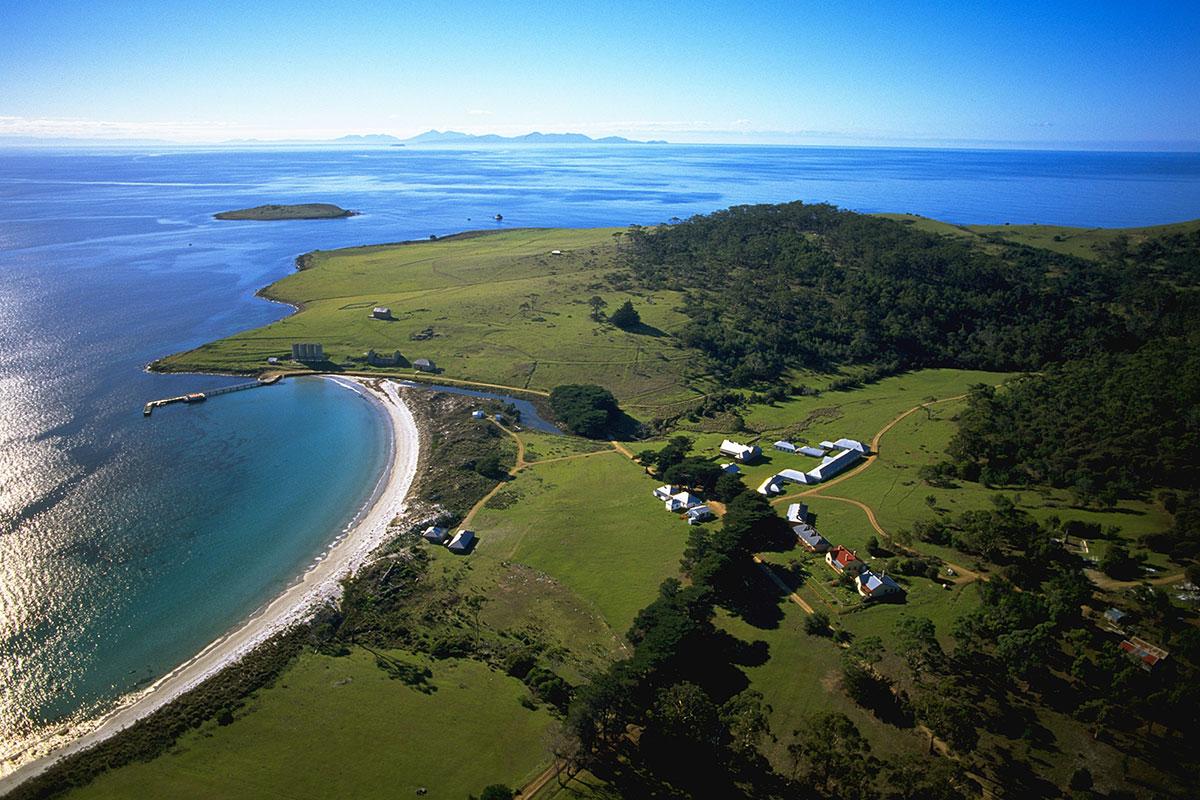 Visit world heritage listed convict settlement in Darlington on the Maria Island Walk in Tasmania.