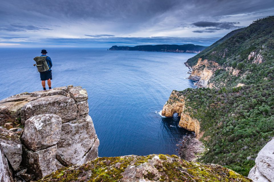 Hike to Fortescue View with Great Walks of Australia on the Three Capes Lodge Walk in Tasmania.