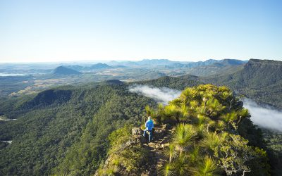 Hiking along Spicers Scenic Rim