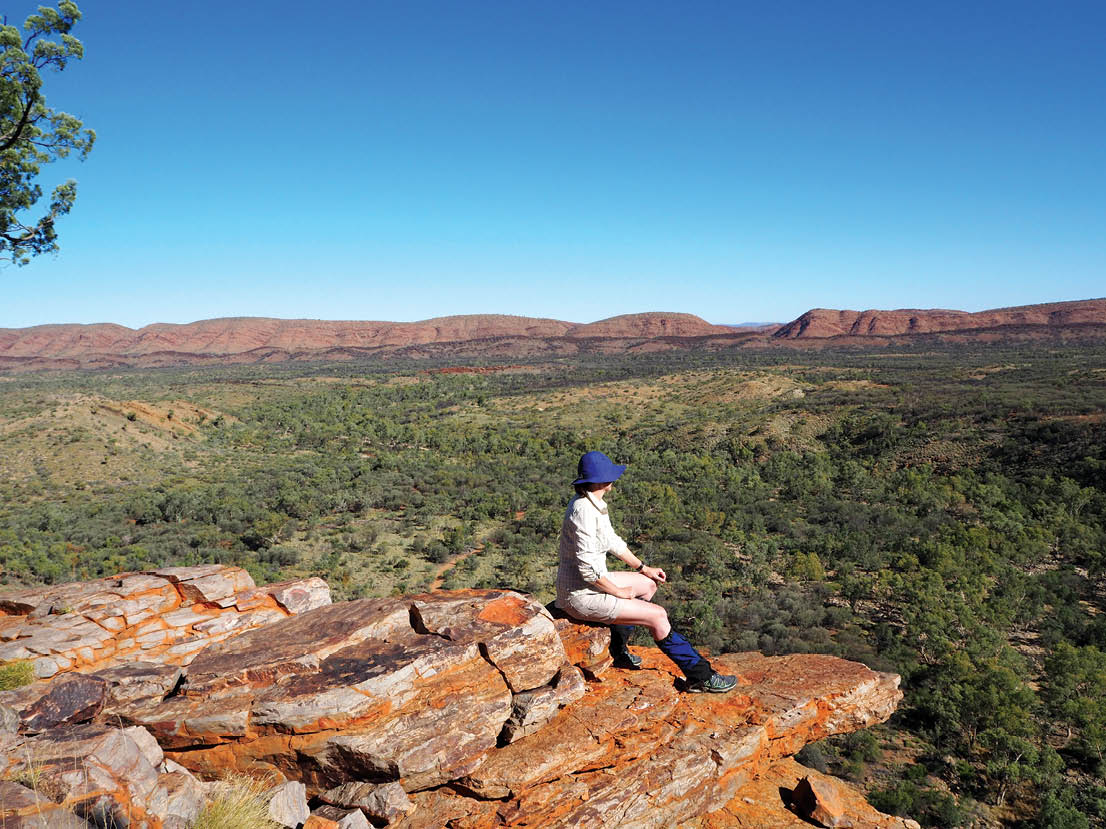 Looking out over the Northern Territory landscape