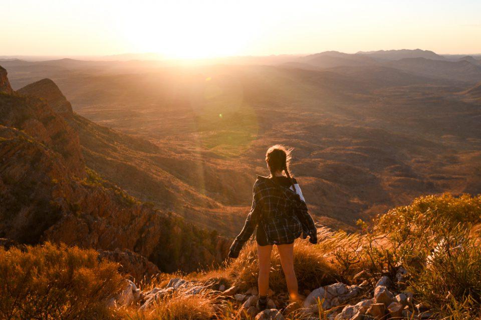 Breathtaking views on the Larapinta Trail
